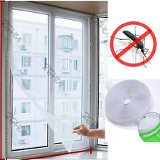 New White Door & Window Flyscreen Wire Net Bug Mosquito Fly Mesh Screen Curtains