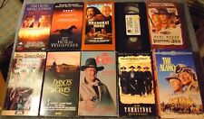 Lot of 10 WESTERN VHS Tapes - John Wayne  Lee Marvin  Robert Redford +