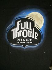 L black FULL THROTTLE NIGHT ENERGY DRINK t-shirt by HANES