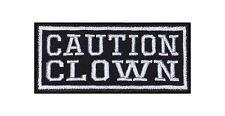 Caution Clown Biker Heavy Rocker Patch Aufnäher Kutte Bügelbild Motorrad Badge