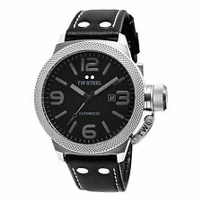 TW Steel Men's TWA200 Canteen Black Leather Strap Watch
