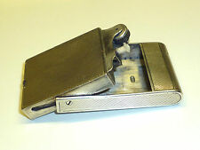 ASPREY ART DECO SOLID SILVER CONCEALED LIGHTER - 1934 - ENGLAND - VERY RARE
