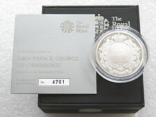 2013 Great Britain Prince George Christening £5 Pound Silver Proof Coin Box Coa