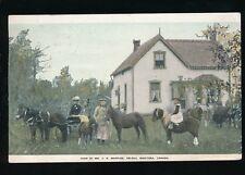 Canada MANITOBA FARMING Farm of Mr Marples Deleau 1905 PPC 160 Acre Farms Free