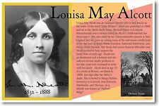 Louisa May Alcott - NEW Famous Author Quote POSTER