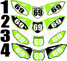 2013-2015 Kawasaki KX250f KX 250f KXF Number Plates Side Panels Graphics Decal