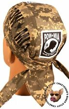 POW MIA SKULL CAP **MADE IN THE USA** BUILT IN SWEAT BAND DIGITAL CAMO