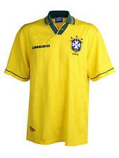 Men's Umbro Brasil 1993-94 Home Jersey Gold Yellow Brazil Pele Vtg Retro Rare XL