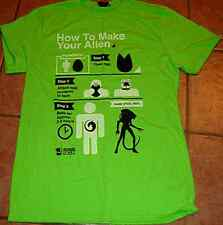 HOW TO MAKE YOUR ALIEN TEE SHIRT T LARGE L GREEN BRAND NEW COMIC CON BOX