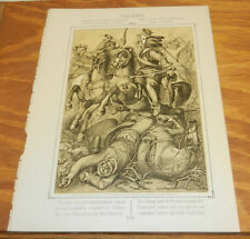 1863 Print/DANGEROUS SITUATION OF CHARLES GUSTAVUS OF SWEDEN, IN POLAND, IN 1656