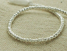 "Karen Hill Tribe Silver 130 Little Bicone Beads 2.6x1.8 mm.9 ""/strand"