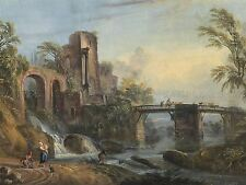 JEAN BAPTISTE LALLEMAND FRENCH DAWN LANDSCAPE CLASSICAL RUINS ART PRINT BB5823A