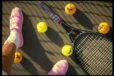478070 Tennis Balls Tennis Shoes And Recruit A4 Photo Print