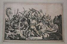 VIOLENCE !  par Johann Eleazar Zeissig Scheneau. Gravure 18ème siècle.