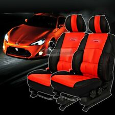 Sports Bucket Seat Cushion Cover Leather Red 2P For HYUNDAI 2003 - 2008 Tiburon