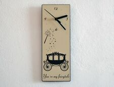 Cinderella's Carriage You're My Fairytale - Wall Clock