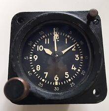 CLOCK AIRCRAFT MECHANICAL WALTHAM COMPANY TIME INDICATOR GAUGE AVIATION UH1 DC3