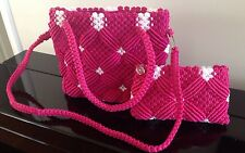 Nylon Crochet Bags - Hand Knitting Bag - Women Hand Bag And Shoulder Bag