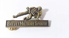 Brevet Militaire Sportif # soldat avec équipement FAMAS -  échelon BRONZE
