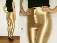 AMERICAN STYLE APPAREL METALLIC ROCKABILLY SKINNY DISCO PANTS AU SELLER P019