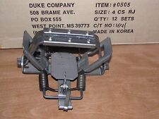 1 Duke # 4 Rubber Jaw 4 Coil Spring Traps  Beaver Coyote Wolf Trapping 0505