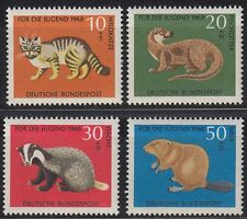 Germany Bund BRD 1968 Mi 549/52 ** Tiere Animals Wildkatze Cats Biber Dachs