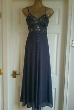 Debut Evening Maxi Dress Party/ Prom/with Jewel Embellishments UK6  Rrp£185