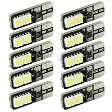 10pcs T10 168 194 W5W Wedge 4 SMD 5050 CANBUS ERROR FREE LED White Light bulb