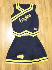 Real EAGLES Adult Cheerleader Uniform Cheer Outfit Costume 36/25 AUTHENTIC