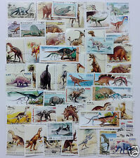 Packet of 50 Different Dinosaur Stamps from around the World - Many uses