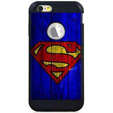 Apple iPod Touch 5/6 5th/6th Gen. Hybrid Case Cover Superman Wood Blue V