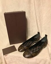 NIB Louis Vuitton Monogram NEW REVIVAL BALLERINA FLAT Shoes 39, 8, 8.5