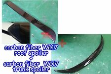 Carbon M-BENZ 13~16 W117 CLA-class Sedan OEM type roof spoiler + trunk spoiler ◎