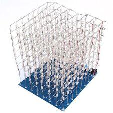 1PCS NEW 3D Light Squared DIY Kit 8x8x8 3mm LED Cube Blue Ray LED