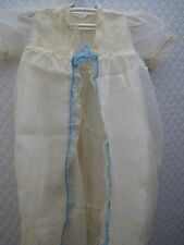 Antique Christening Dress / Gown has Bonnet Slip total 4 pieces Near Mint Cond