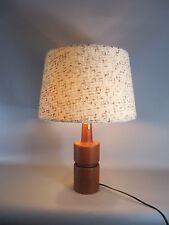 Vintage 60s Teak mesa lámpara lámpara de mesa Table lamp mid CENTURY