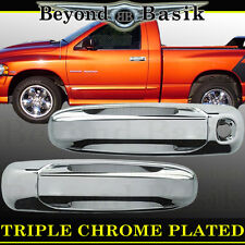 2005-2011 DODGE RAM DAKOTA Triple ABS Chrome Door Handle Cover W/O PSK 2dr TRIM