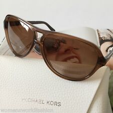 Michael Kors MK6008 Wainscott Brown Transparent 60mm Plastic Frame Sunglasses