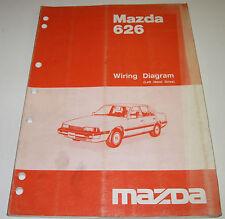 Werkstatthandbuch Elektrik Mazda 626 Wiring Diagram Left hand drive Typ GC