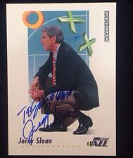 JERRY SLOAN 1992 SKYBOX Autographed Signed BASKETBALL Card UTAH JAZZ COACH