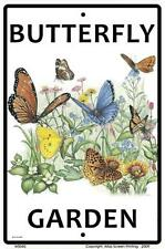 Butterfly Garden Sign 10x15 Metal Monarch