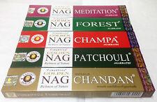 Golden Nag Champa Incense Sticks ALL 5 Forrest,Meditation,Patchouli,Chandan,Nag