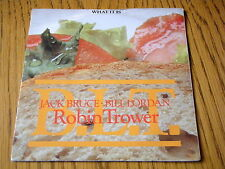 "ROBIN TROWER - WHAT IT IS  7"" CLEAR VINYL PS"
