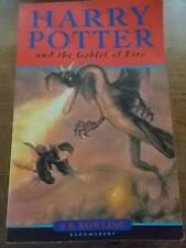 1st Edition HARRY POTTER and the Goblet of Fire JK ROWLING Bloomsbury ed 2000