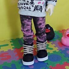 bjd yosd 1/6 doll clothes, Pants Washing jean (pink&black)
