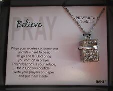 d Believe Pray Prayer Box Necklace Let God brings you comfort ganz