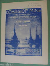 Boats of Mine 1919 Anne Stratton Miller Med voice  Robert Lewis Stevenson Poem