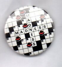 MADNESS - RARE BUTTON BADGE - UK SKA BAND - SUGGS ONE STEP BEYOND  OUR HOUSE PIN