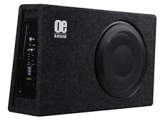 "OE Audio 12 ""Shallow SLIM AUTO SUBWOOFER AMPLIFICATO BOX 900W Inc Kit di cablaggio"