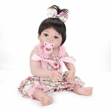 22'' Handmade Lifelike Reborn Doll Girl Full Body Vinyl Silicone Baby+Clothes
